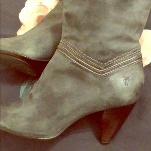Frye boots green. Super cute!!!